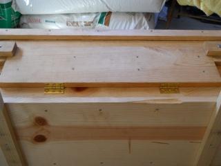 Homemade Top Bar Bee Hive Side Window Hinges