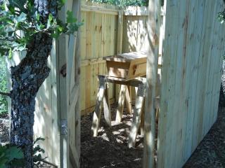 Bees 2012 Fenced Area with Door Open