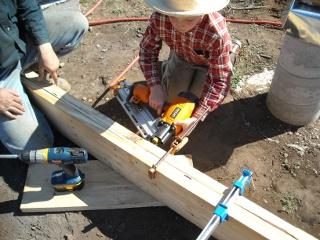 Nailing the Foundation Built-up Beams