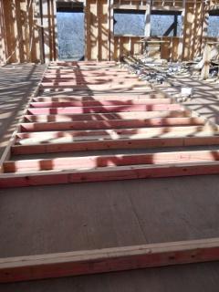 House Internal Wall Frame Before Raising