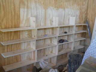 Bookshelf Half Done