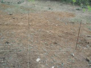 Line Strings Set Up for Corner Porch Posts