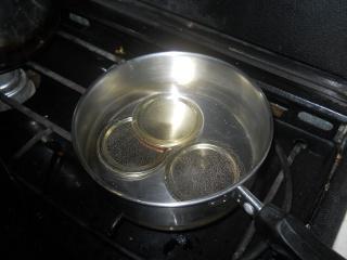Boiling Canning Jar Lids