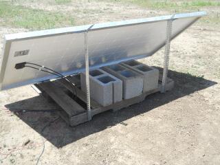 Cinder Blocks on Solar Panel Palette