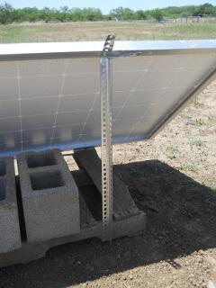 Solar Panel Angle Brace to Palette