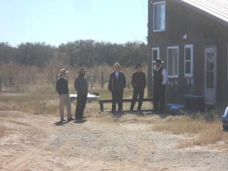 The Men Outside Before Thanksgiving Festivities